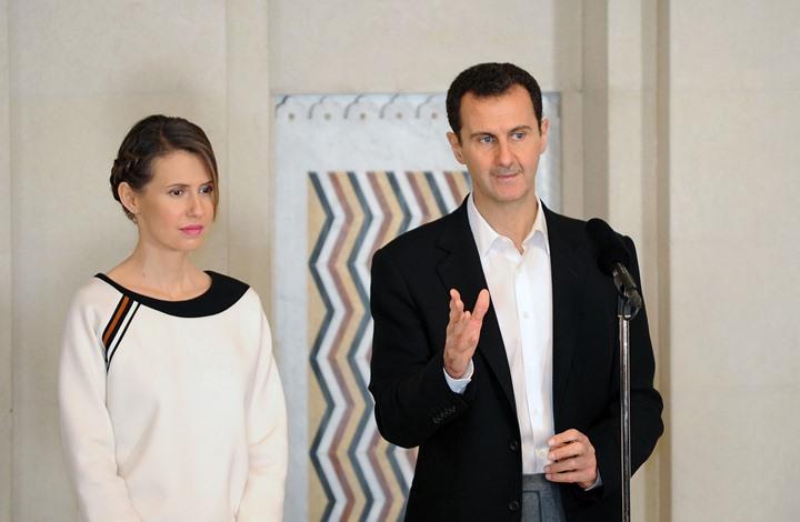 """النظام السوري يعلن تعافي بشار الأسد وزوجته من """"كورونا"""""""