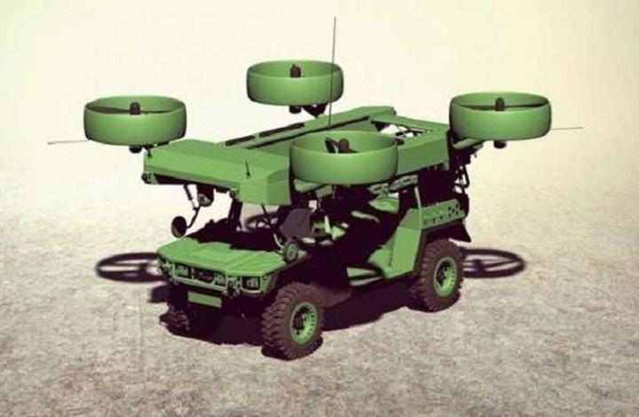 لأول مرة: عربة مدرعة قادرة على الطيران خلال القتال (صور)