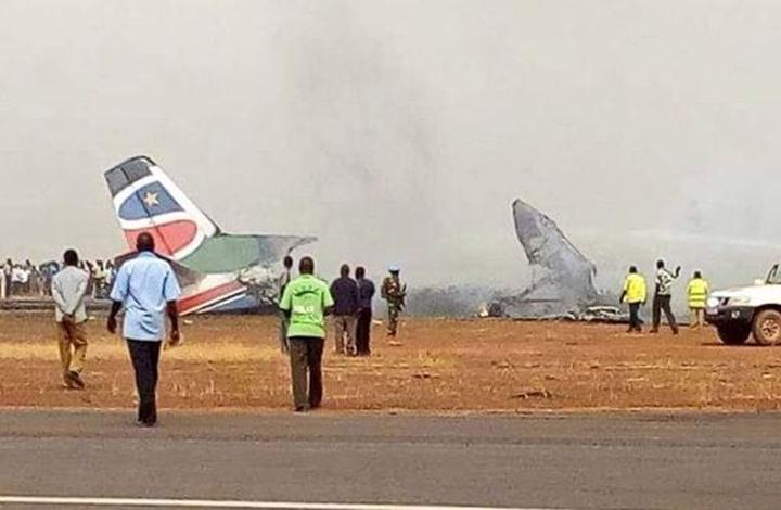تحطم طائرة ركاب لدى هبوطها في مطار بجنوب السودان