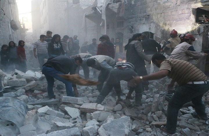 33 قتيلاً في غارة على مدرسة بمناطق إحتلال داعش شمال سوريا