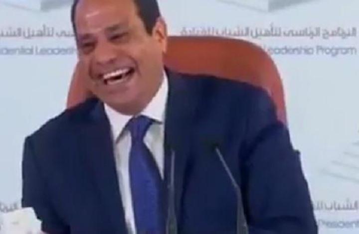 """سؤال مكتوب عن """"الربيع العربي"""" يثير ضحك السيسي (شاهد)"""