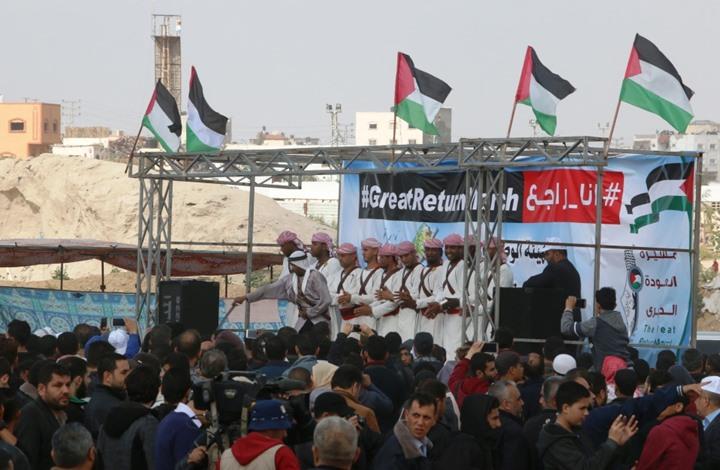 في اليوم الثاني.. مسيرة العودة بغزة تتحدى وتتواصل (صور)