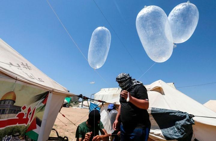 غزة تعود لإطلاق بالونات حارقة صوب الغلاف.. ونتنياهو يهدد