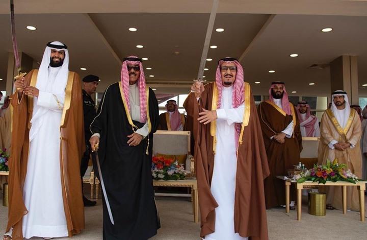 جدل بعد رقص ابن سحيم مع الملك سلمان وأمير كويتي (شاهد)