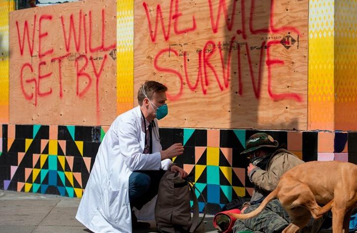 60 ألف أمريكي مشرد في كاليفورنيا عرضة للإصابة بكورونا