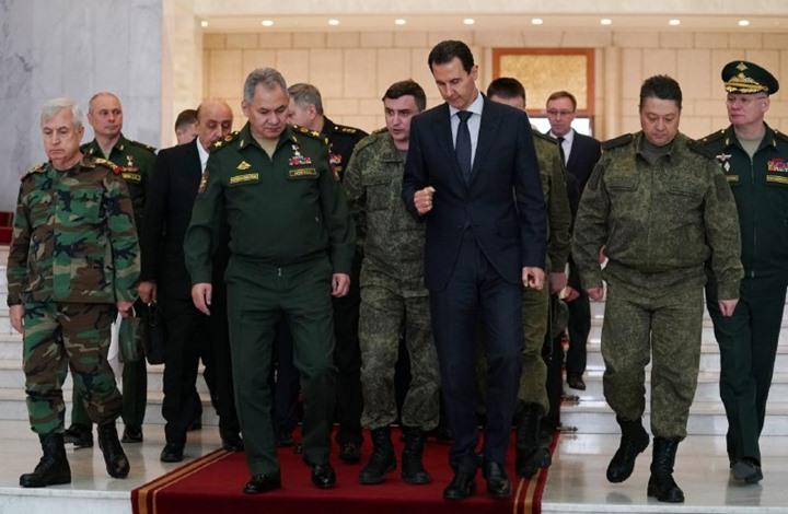 """وزير الدفاع الروسي يبحث مع الأسد وقف """"خروقاته"""" بإدلب"""