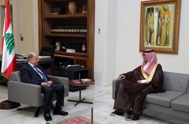 السفير السعودي يلتقي عون ويدعو للإسراع بتأليف الحكومة