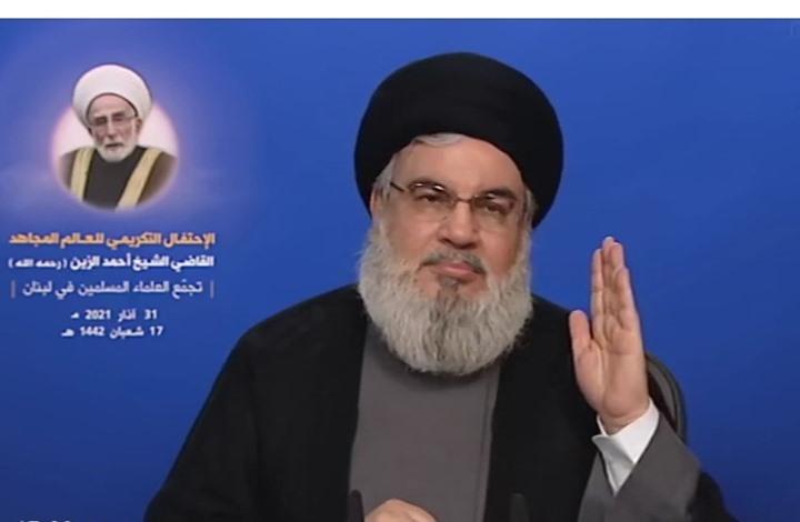 """نصر الله يتحدث عن جهود و""""تذليل عقبات"""" لتشكيل حكومة لبنان"""