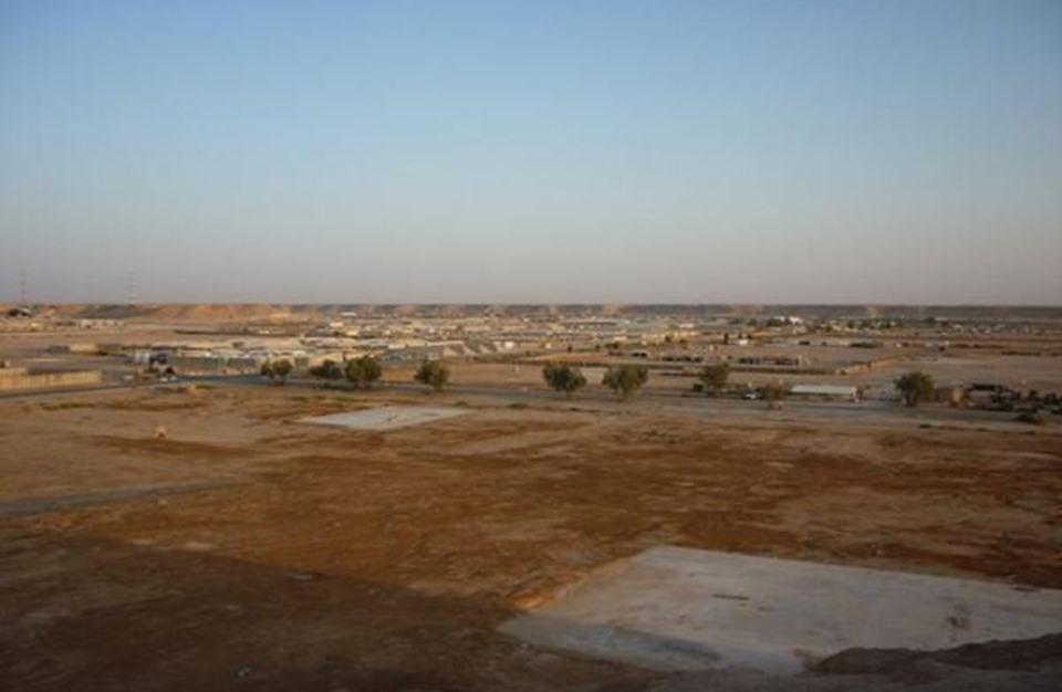 سقوط صواريخ على قاعدة تضم قوات أمريكية بالأنبار