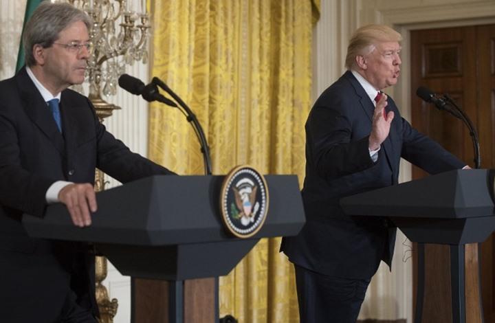 ترامب يهاجم إيران في مؤتمر صحفي مع رئيس الوزراء الإيطالي