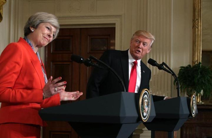 هكذا علقت رئيسة وزراء بريطانيا على تغريدات ترامب العنصرية