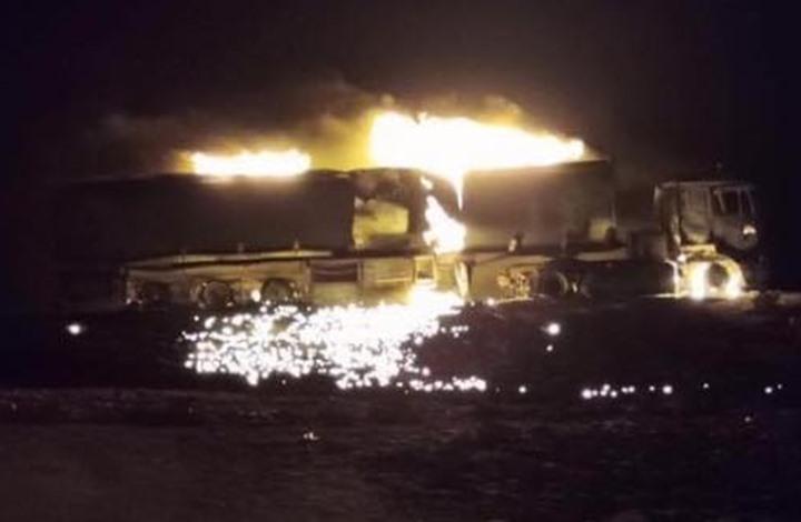 """""""الوفاق"""" تقصف تعزيزات متجهة إلى قوات حفتر بترهونة (شاهد)"""