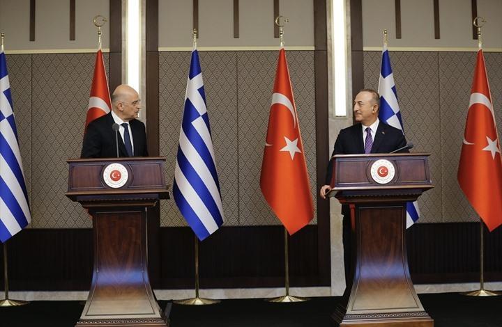 سجال بين وزيري خارجية تركيا واليونان في مؤتمر صحفي (شاهد)