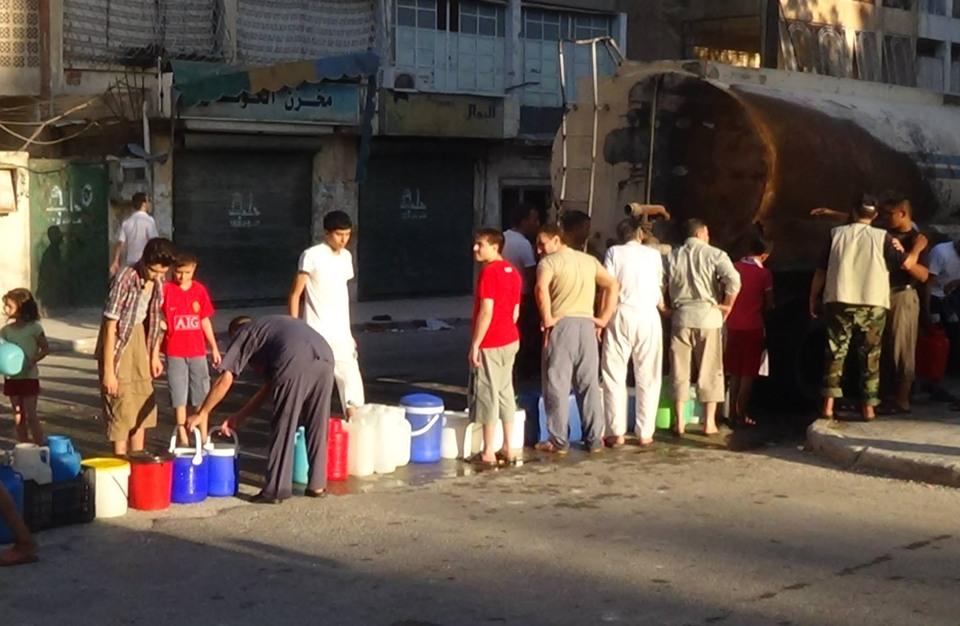 النظام السوري يقطع المياه عن حي دمشقي رفض الهدنة