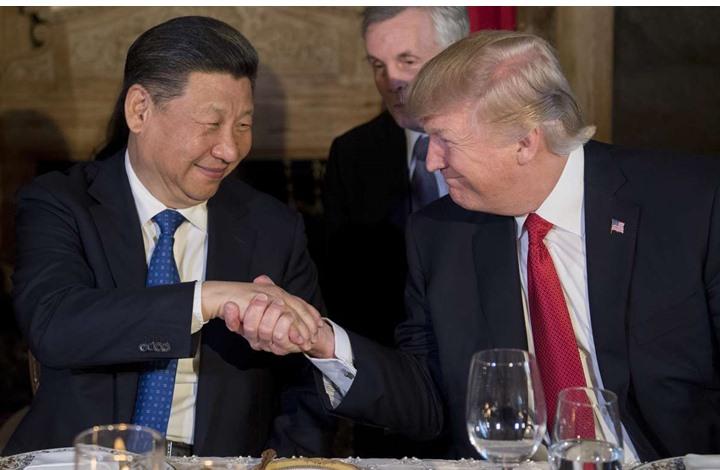 في أي فقرة من اللقاء أخبر ترامب رئيس الصين بضربة سوريا؟