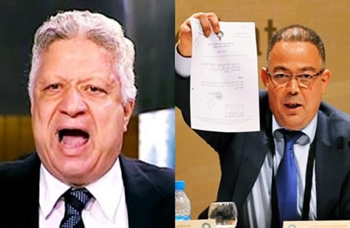"""رئيس الاتحاد المغربي يرد """"بقوة"""" على تحذير مرتضى منصور (شاهد)"""