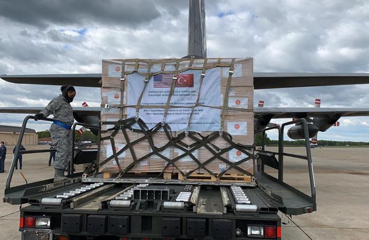 طائرة مساعدات طبية تركية جديدة تصل واشنطن