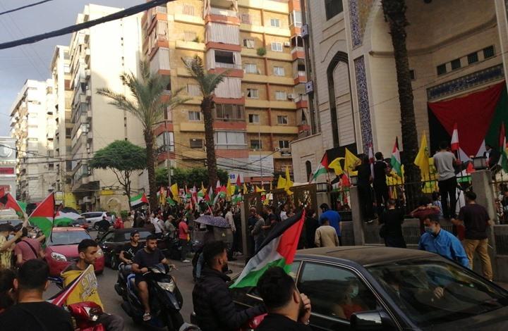 """مسيرة تأييد لفلسطين ببيروت: """"مشان الله يا سيد يلا"""" (فيديو)"""