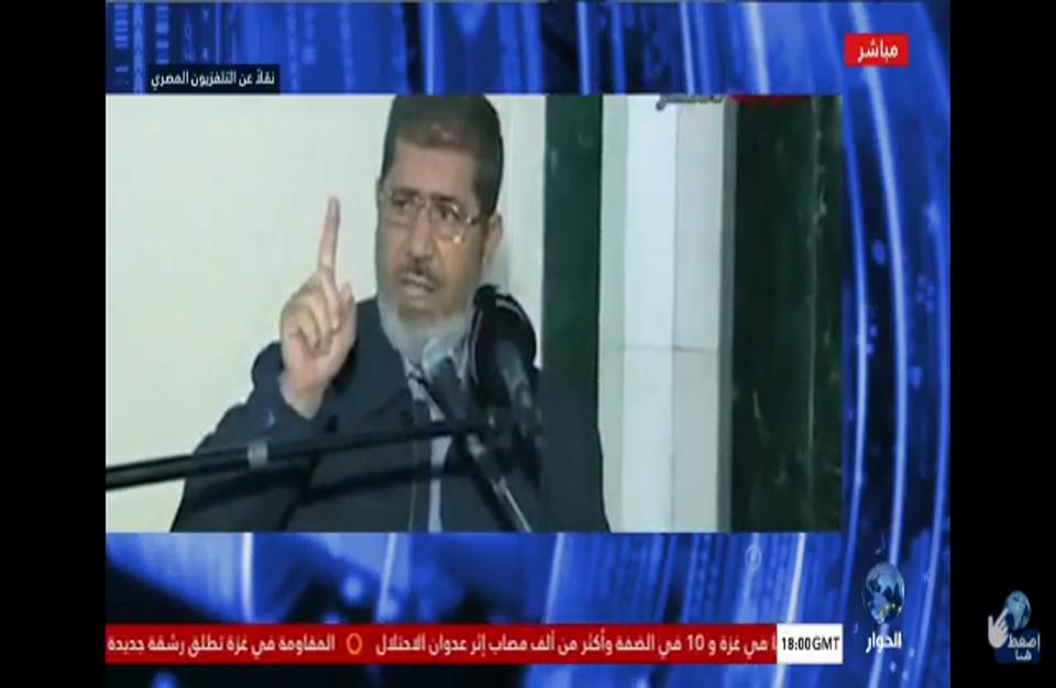 تداول فيديو لتصريحات مرسي عن حرب غزة إبان حكمه (شاهد)