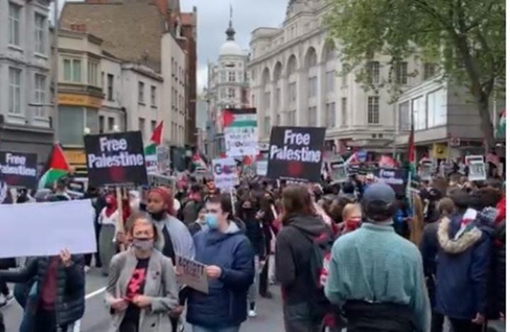 لندن تنتصر للقدس.. مئات الآلاف ينتفضون ضد الاحتلال (شاهد)