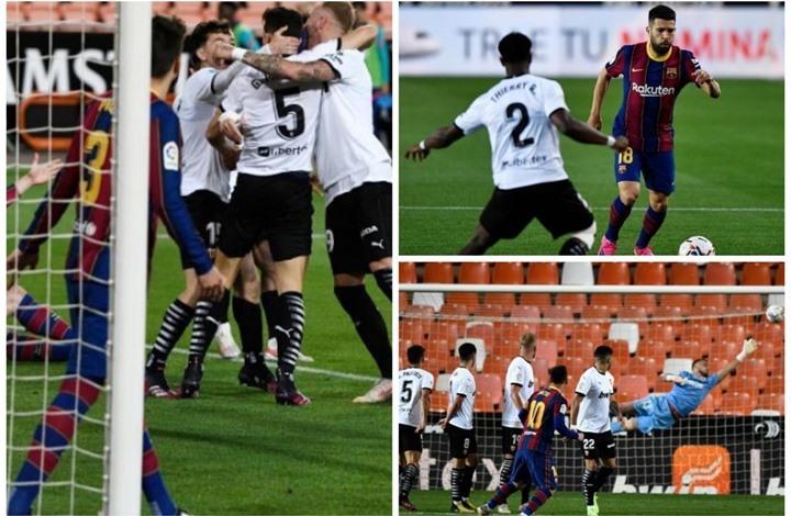 برشلونة يحقق فوزا صعبا على فالنسيا.. وميسي يتألق