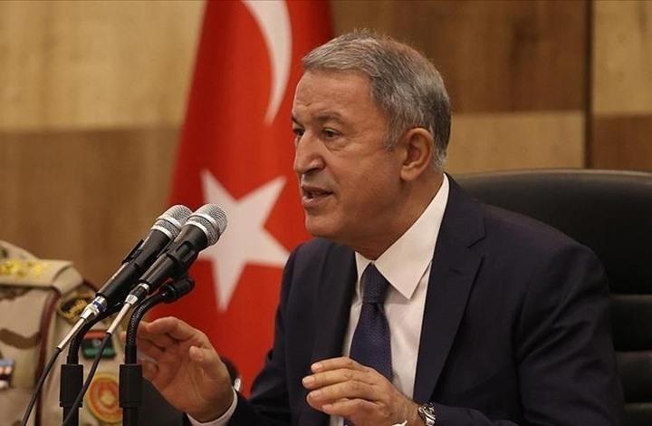 أكار يلتقي الجنود الأتراك بطرابلس ويؤكد أهمية سيادة ليبيا