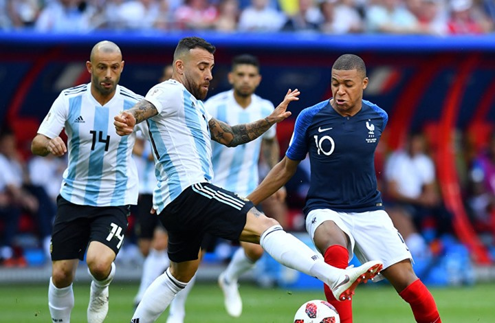 الشوط الأول.. فرنسا تسجل والأرجنتين ترد بهدف رائع  (شاهد)