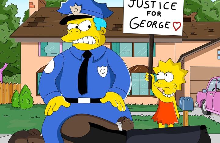 """هل تنبأ مسلسل """"سمبسون"""" بمقتل """"فلويد""""؟ (صور)"""