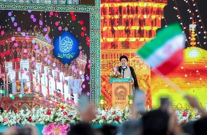 """""""رئيسي"""" يلقي خطاب الفوز في مدينة مشهد الإيرانية"""