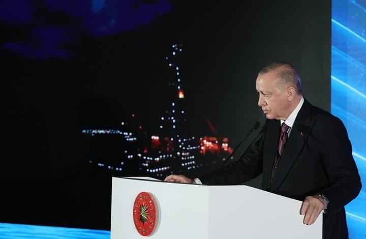 أردوغان يكشف عن 135 مليار متر مكعب من الغاز بالبحر الأسود