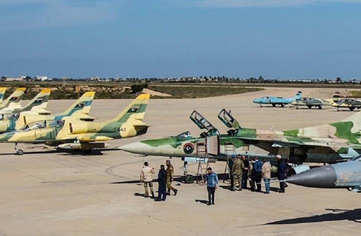 """صور جوية تظهر طائرة تحمل دعما لـ""""الفاغنر"""" بالجفرة"""