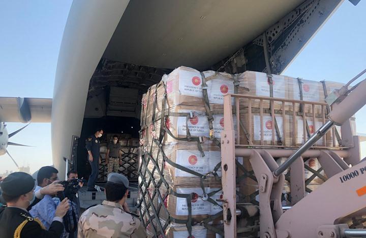 مساعدات طبية تركية تصل العراق (شاهد)