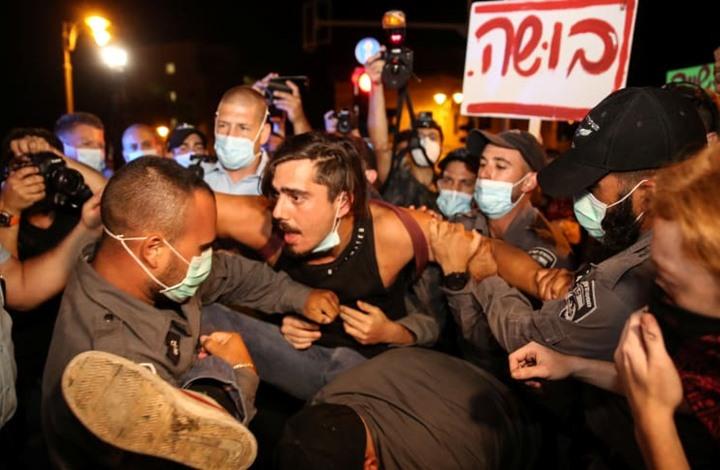مظاهرات إسرائيلية غاضبة ضد نتنياهو.. واعتقالات بالجملة(شاهد)