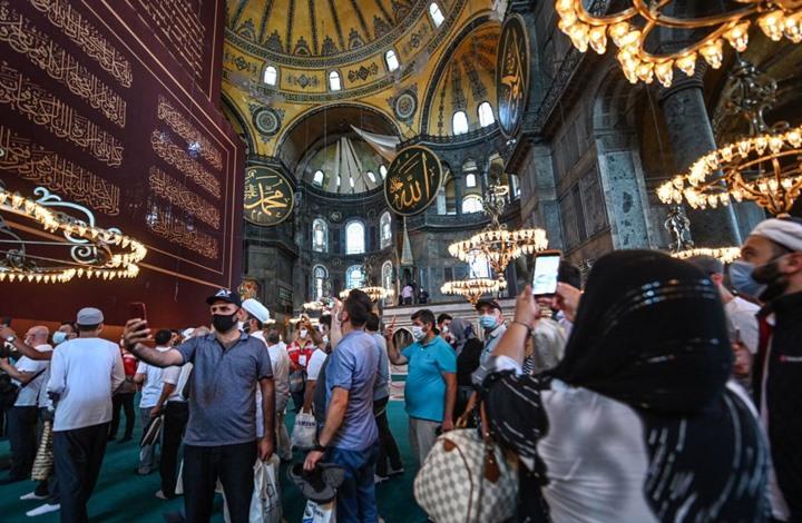 حفيدا السلطان عبد الحميد الثاني يزوران آيا صوفيا (شاهد)