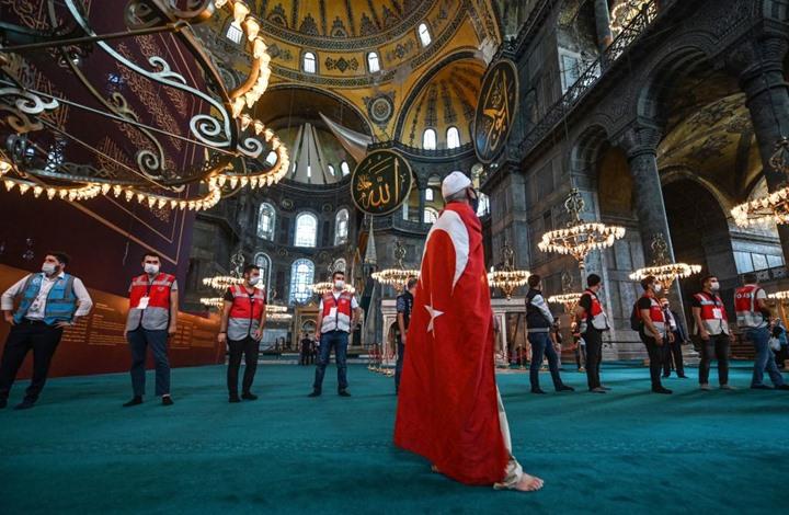 استعدادات لأداء أول صلاة عيد في مسجد آيا صوفيا