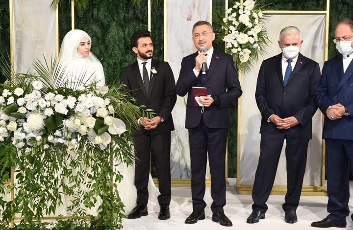 حشد لمسؤولي تركيا بزفاف شاب يمني وابنة متحدث أردوغان
