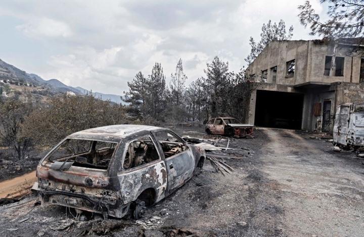 مقتل أربعة مصريين في حريق هائل بقبرص (شاهد)