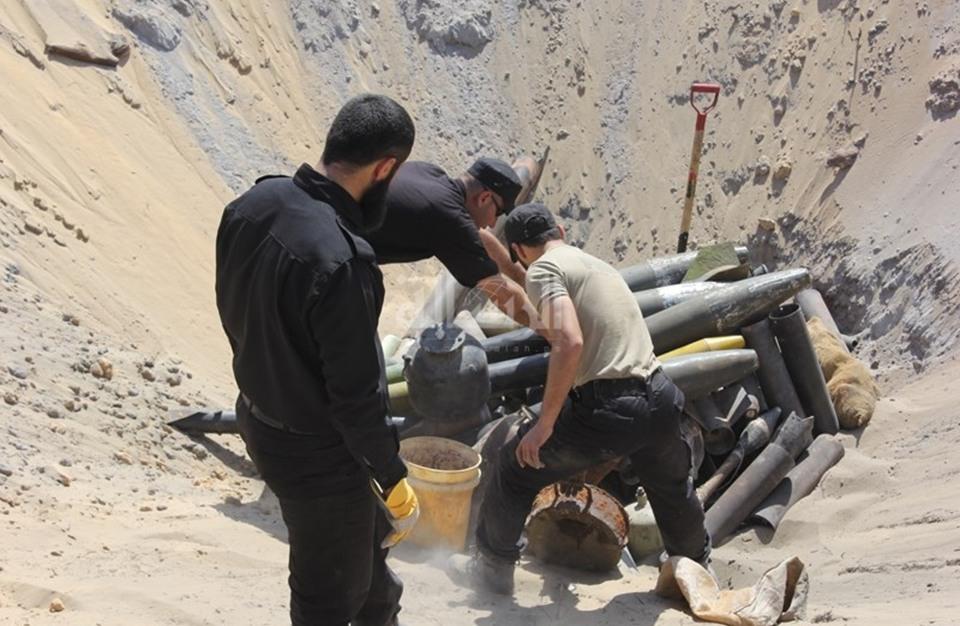 انفجار صاروخ إسرائيلي بغزة والحصيلة سبعة شهداء