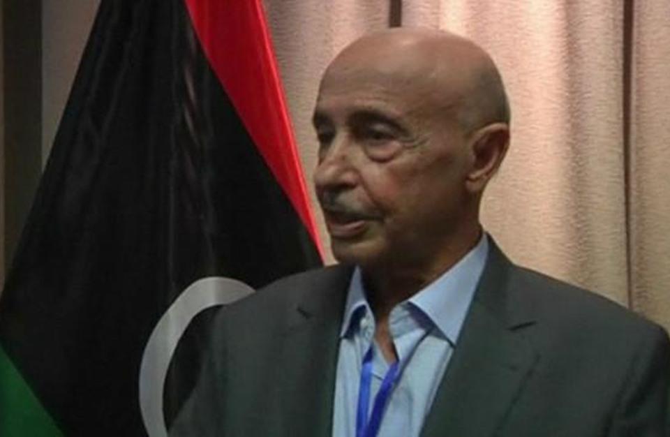 رئيس برلمان طبرق يشترط الاعتراف بحفتر لدعم حكومة الوفاق