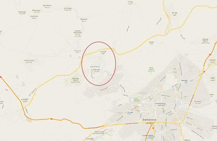 """حصار الأسد يُرغم قدسيا والهامة بريف دمشق على """"المصالحة"""""""