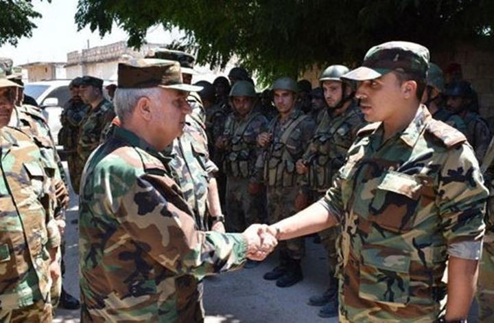 وزير دفاع النظام السوري يزور الهبيط بإدلب بعد السيطرة عليها