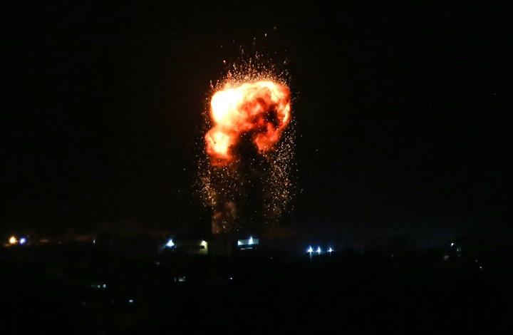 قصف إسرائيلي يستهدف مواقع للمقاومة في قطاع غزة
