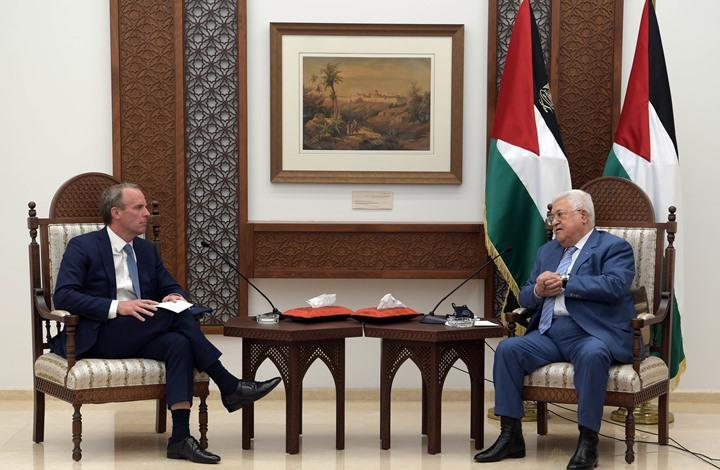 عباس لوزير خارجية بريطانيا: التطبيع لن يجلب السلام