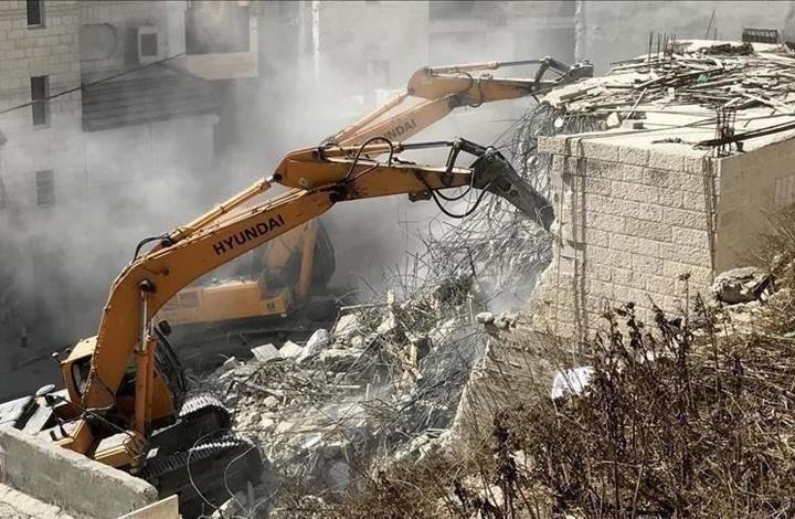 منظمة: الاحتلال هدم 313 منشأة فلسطينية منذ مطلع العام