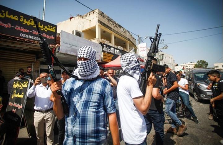 مسيرة لمقاومين واشتباك مسلح على حاجز للاحتلال بجنين (شاهد)