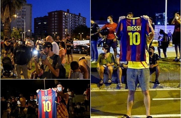 بعد رحيل ميسي.. الجماهير تحتشد أمام الملعب ولابورتا يوضح