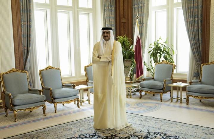 شيوخ من آل ثاني يجددون البيعة والولاء لأمير قطر شاهد