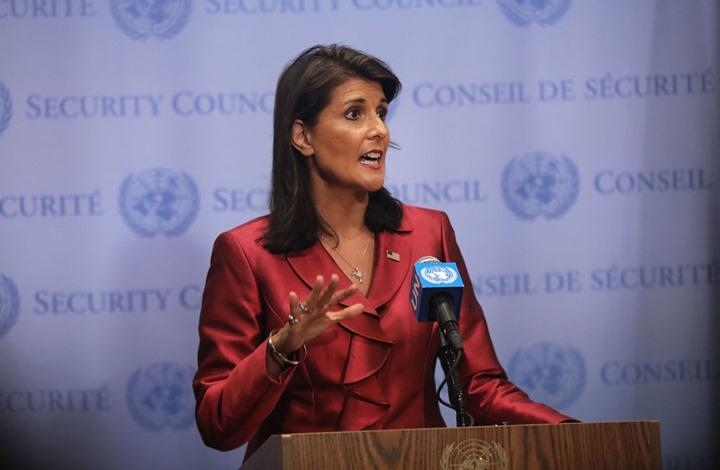 """هايلي تتحدث عن """"صفقة القرن"""" وتطمئن إسرائيل.. أمنكم فوق كل شيء"""