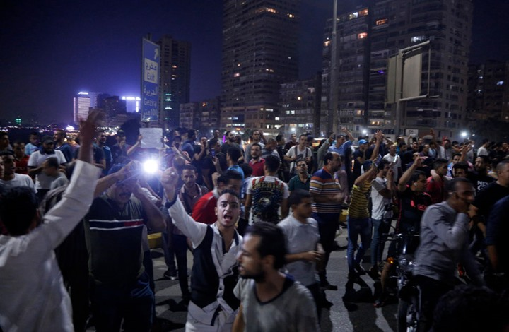 اعتقالات بمصر بعد مظاهرات مطالبة برحيل السيسي (شاهد)