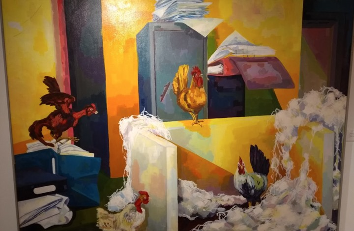 أُوبُنتُو كمان وكمان: قراءة في المعرض المجمَّع
